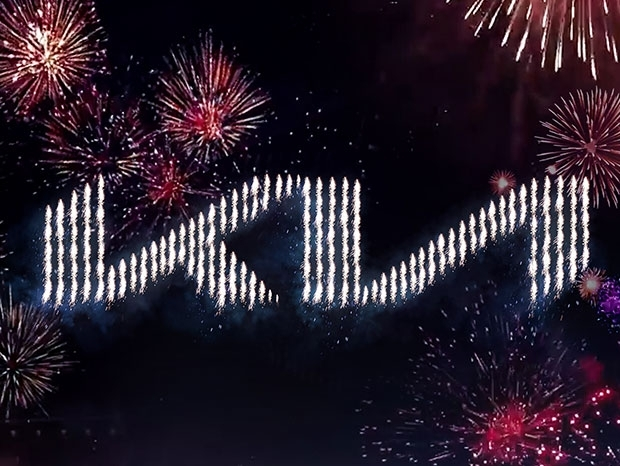 KIA revealed new logo with pyrodrones